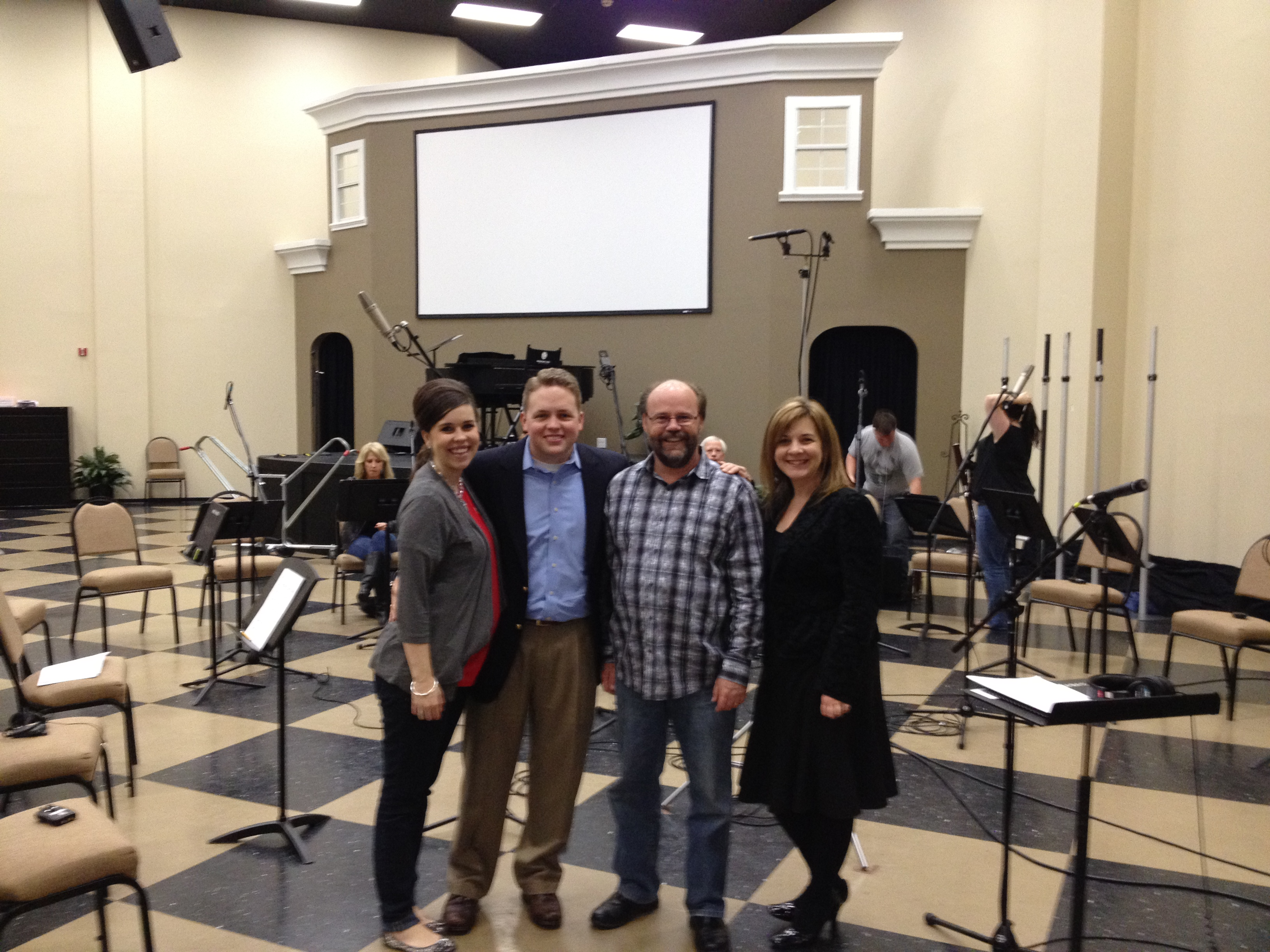 """Paige, John, Randy and Jill in the """"Studio"""""""