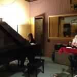 Studio - Jill at the piano